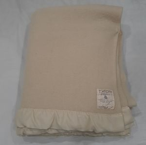 Eaton's vintage wool blanket 61 by 80 inches